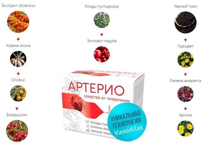 артерио состав